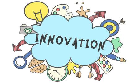 Creativiteit ideeën Ontwerp gedachte Bubble pictogram Concept