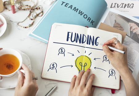Crowd Funding Funding Geben Hilfe Nonprofit-Konzept Standard-Bild - 64906915