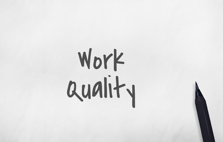 excellent: Work Quality Smarter Excellent Concept Stock Photo