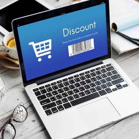 orden de compra: Discount Purchase Order Shopping Concept Foto de archivo