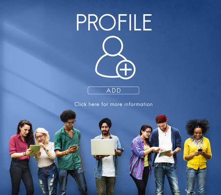 school campus: Add Friends Social Media Graphic Concept