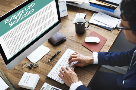Mortgage Loan Request Modification Document Concept Stock Photo