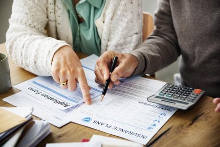 health risk: Insurance Health Risk Assessment Vitality Concept Stock Photo