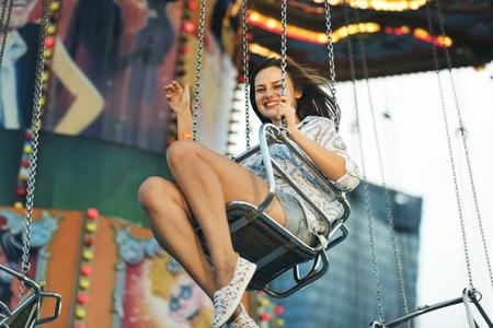 Swing Spining Amusement Carninal Enjoyment Concept