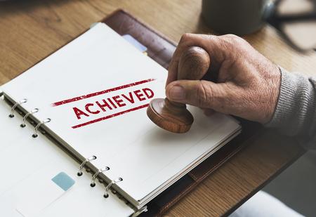 achieve: Achieve Goal Motivation Strategy Successful Concept