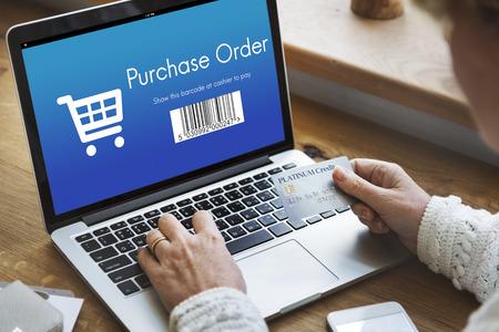 purchase order: Orden de compra de compras el concepto de descuento Foto de archivo
