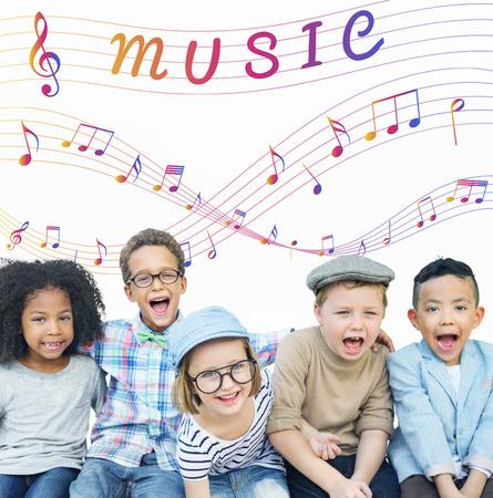 instrumental: Music Note Art of Sound Instrumental Concept Stock Photo