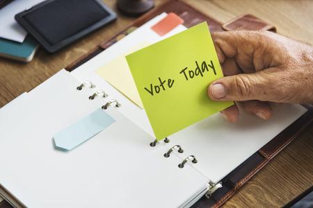 political system: Vote Today Election Politics Concept Stock Photo