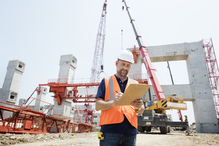 site: Architecture Construction Safety First Career Concept Stock Photo