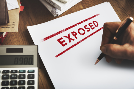 indicative: Exposed Disclosed Declarative Indicative Relating Concept Stock Photo