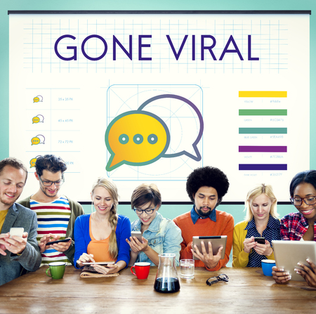 gone: Gone Viral Trends Interact Connection Concept