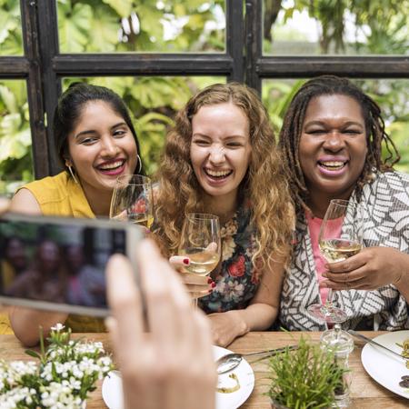 Women Communication Dinner Together Concept
