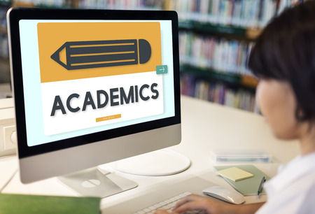 academics: Pencil Education Study Academics Learning Graphic Concept