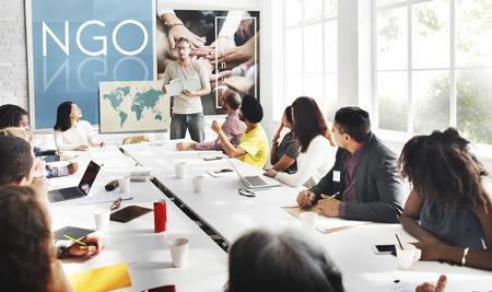 NGO Beitrag Corporate Foundation Nonprofit-Konzept
