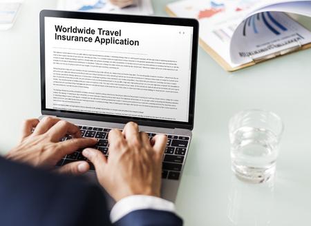 law suit: Worldwide Travel Insurance Application Form Concept