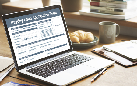 Payday Loan Application Form Salary Debt Concept Stock Photo