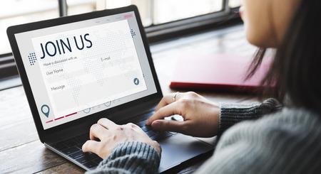 chat online: Register Enquiry Online Web Page Concept