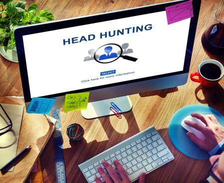 headhunting: Headhunting Hiring Employment Occupation Jobs Concept