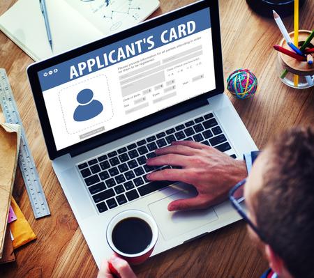 identification: Applicants Card Membership Identification Data Information Registration Concept