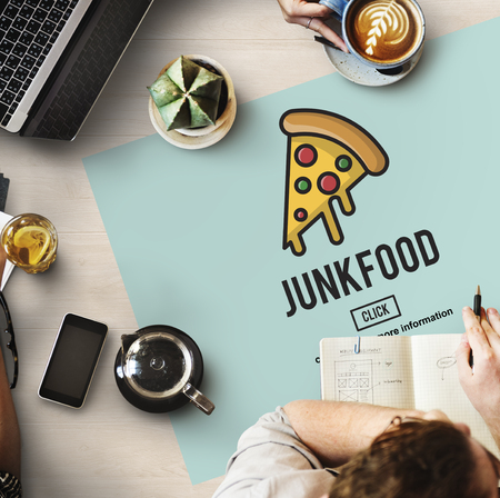 what to eat: Calories Junk Food Unhealthy Obesity Concept Stock Photo