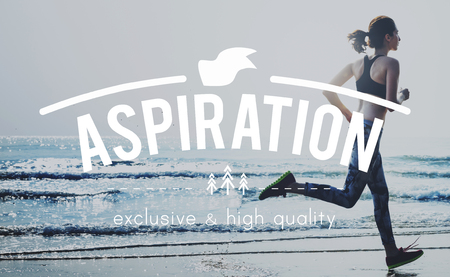 expectation: Aspirations ambition Desire Expectation Goal Concept Stock Photo