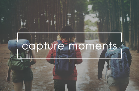 the moments: Memories Moments Be Yourself Concept