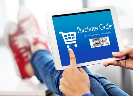 orden de compra: Orden de compra de compras el concepto de descuento Foto de archivo