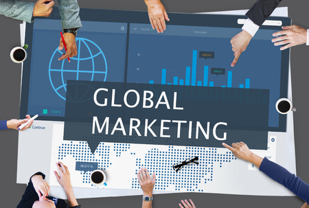 expansion: Economy Global Business Marketing Managment Concept