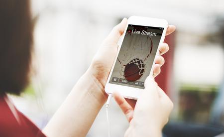 live stream tv: Live Stream Video Multimedia Concept Stock Photo