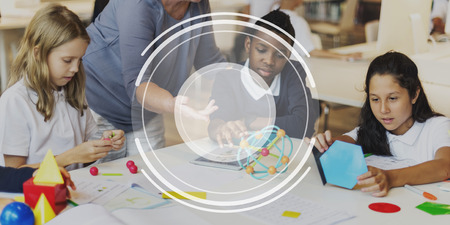 schoolroom: Children Education Class Lens Graphic Concept