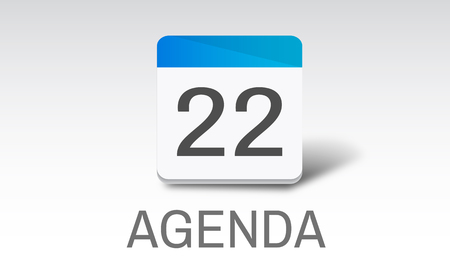 agenda: Agenda Events Reminder Meeting Appointment Concept Stock Photo