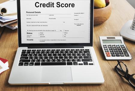 registros contables: Credit Score Financial Banking Economy Concept