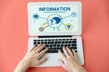 faq's: Help Question Contact us Information Concept