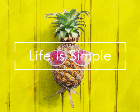 simple life: Life Simple Balance Relax Simplicity Happiness Concept Stock Photo
