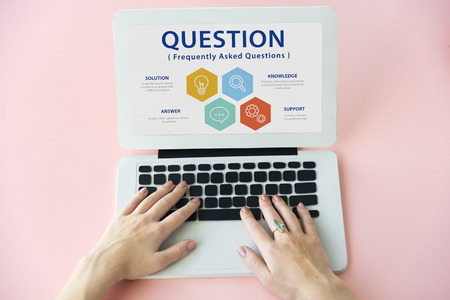 faqs: Contact us Information Faqs Word Concept Stock Photo