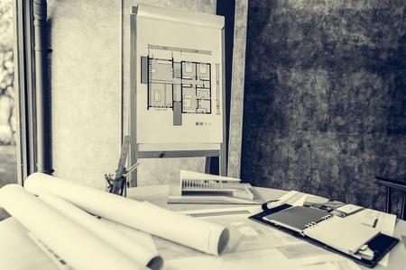 Design Studio Architect Creative Occupation Blueprint Office Concept