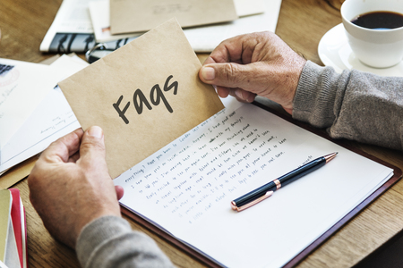 faq's: Help Others Service Support Concept Stock Photo