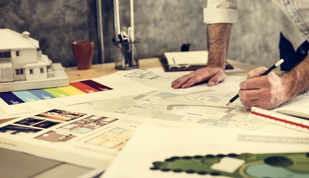 Design Studio Architecte Creative Occupation Blueprint Concept