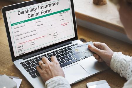 Disability Insurance Claim Form Document Concept Imagens - 65167613