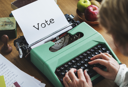 poll: Vote Balloting Poll Journalism Concept