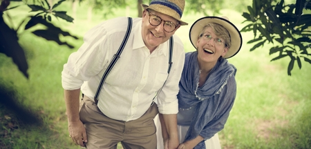 Bejaard Hoger Paar Romance Love Concept Stockfoto - 65168808