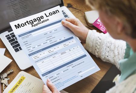 Person holding a mortgage loan 版權商用圖片
