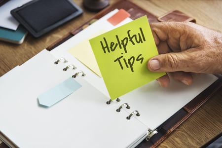 Helpful Tips Information Knowledge Concept Stok Fotoğraf