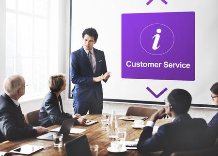 correspond: Customer Service Information Icon Concept