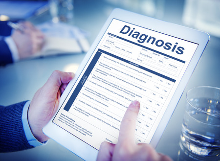 questionaire: Diagnosis Clinical Document Personal Informatin Concept Stock Photo