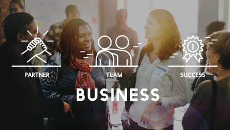 socialize: Business Collaboration Teamwork Corporation Concept Stock Photo