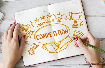 outside the box: Success Achievement Victory Outside Box Sketch Concept