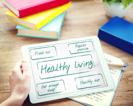enough: Healthy Living Wellness Diet Exercise Words Graphic Concept Stock Photo