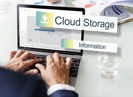 storage: Cloud Storage Data Backup Transfer Concept