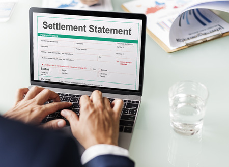 consolidate: Settlement Statement Form Financial Concept